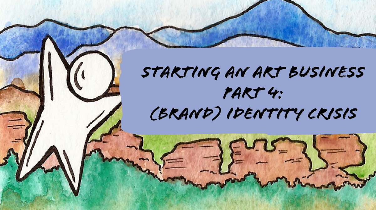 Starting an Art Business Brand identity Title card